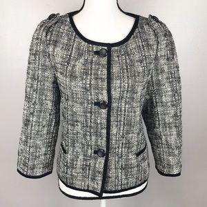 Talbots Black White Blazer Jacket